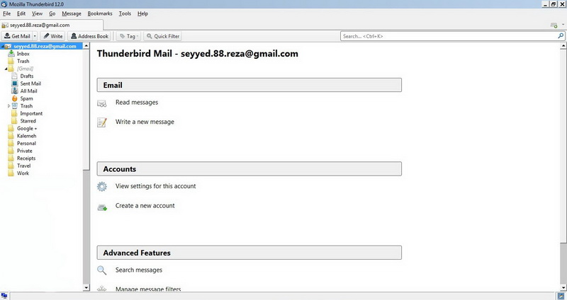 Mozilla Thunderbird Screenshots